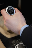 Man using a gear stick