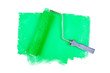 Paint roller on green traces