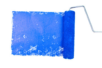 One blue trace of painting