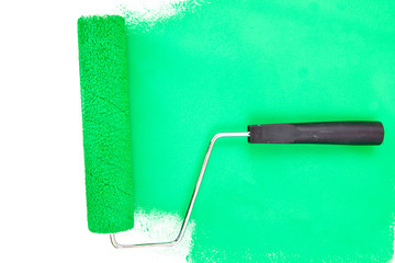 Horizontal green brush stroke