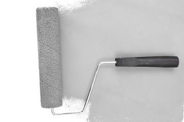 Horizontal grey brush stroke