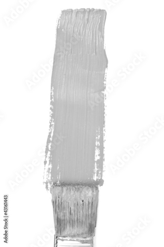Grey vertical line of painting
