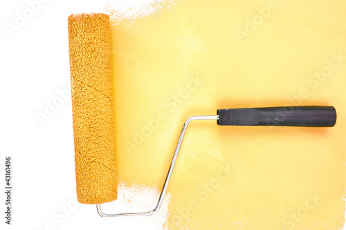 Horizontal yellow brush stroke