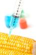 Syringe with corn