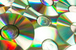 Music cd piled up