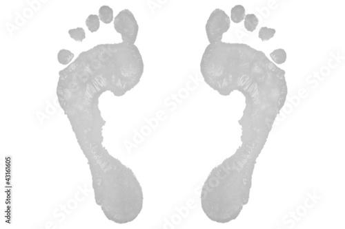 Two grey footprints
