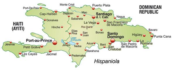 Landkarte von Hispaniola