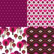 Seamless seventies retro pattern in vector