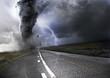 Leinwandbild Motiv Powerful Tornado