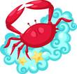 Zodiac signs -Cancer vector Illustration