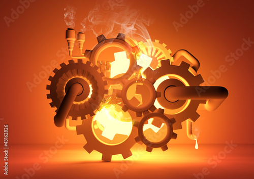canvas print picture Gears of Industry