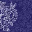 floral pattern on blue
