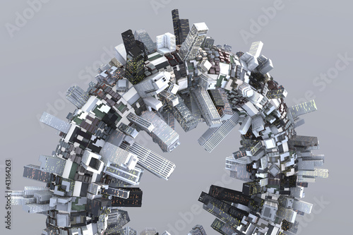 Futuristische Stadt der Zukunft
