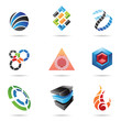 Various colorful abstract icons, Set 11
