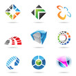 Various colorful abstract icons, Set 15