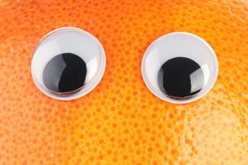 grapefruit with eyes