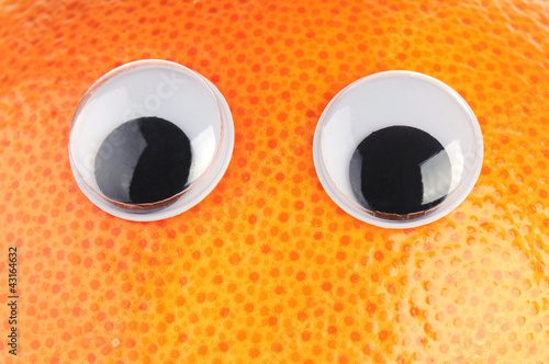 grapefruit with eyes