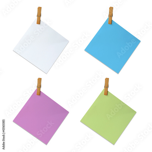 Clip and blank note paper