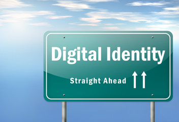 "Highway Signpost ""Digital Identity"""