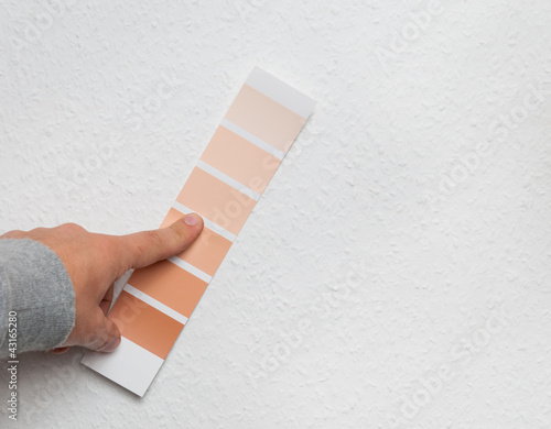 Color selecting on wall