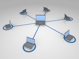 Networked System of Notebook Computers