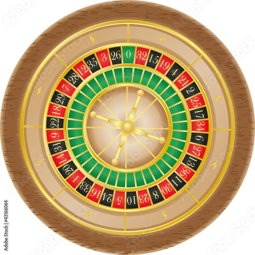 roulette casino vector illustration