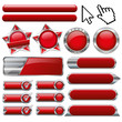 red collection vector button-set
