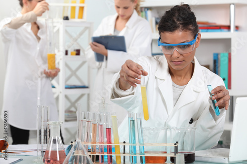 medical worker making tests in a laboratory