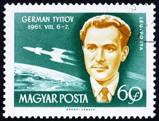 Postage stamp Hungary 1962 Gherman Titov, Astronaut