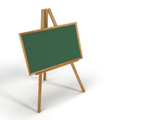 wooden easelchalk board