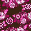 Seamless flower pattern background in vector
