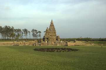 India. Mamallapuram Shore Temple