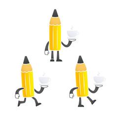 funny cartoon pencil