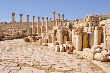 Sitio arqueológico de Jerash (Jordania)