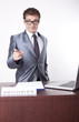 Young male receptionist