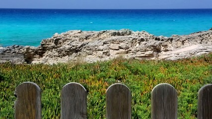 beautiful rocky beach in balearic islands