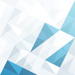 Abstract geometrical background with blue triangles and space fo