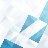 Fototapety Abstract geometrical background with blue triangles and space fo