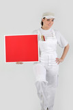 Decorator with a blank board