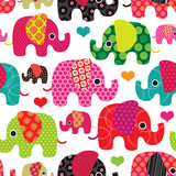 Fototapety Seamless elephant kids pattern background in vector