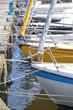 Details von Segelbooten in Kiel, Schleswig-Holstein