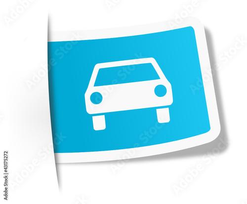Schild Auto