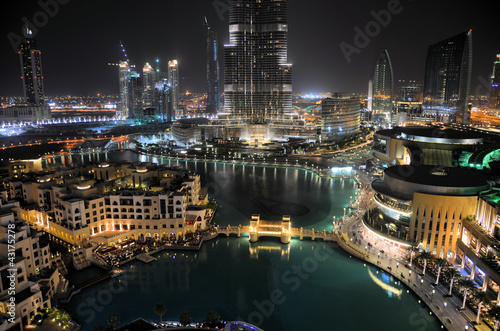 Plexiglas Dubai Dubai Downtown with Burj Khalifa