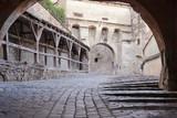 Fototapety beautiful medieval street in Sighisoara, Transylvania