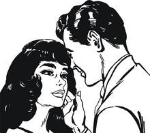 Illustration avec un jeune couple