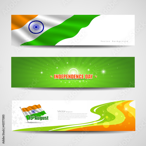 Happy Independence Day India banner design background