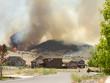 Wild fire or forrest fire endangers neighborhood - 43177244