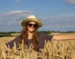 Getreide und Frau