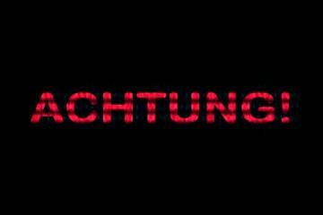 """""""Achtung!"""" / Hinweis / Vorsicht"""
