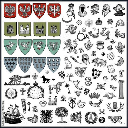 heraldic elements - 43177872